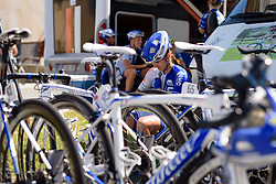 Final preparations in the UnitedHealthcare camp at Thüringen Rundfarht 2016 - Stage 6 a 130 km road race starting and finishing in Schleiz, Germany on 20th July 2016.