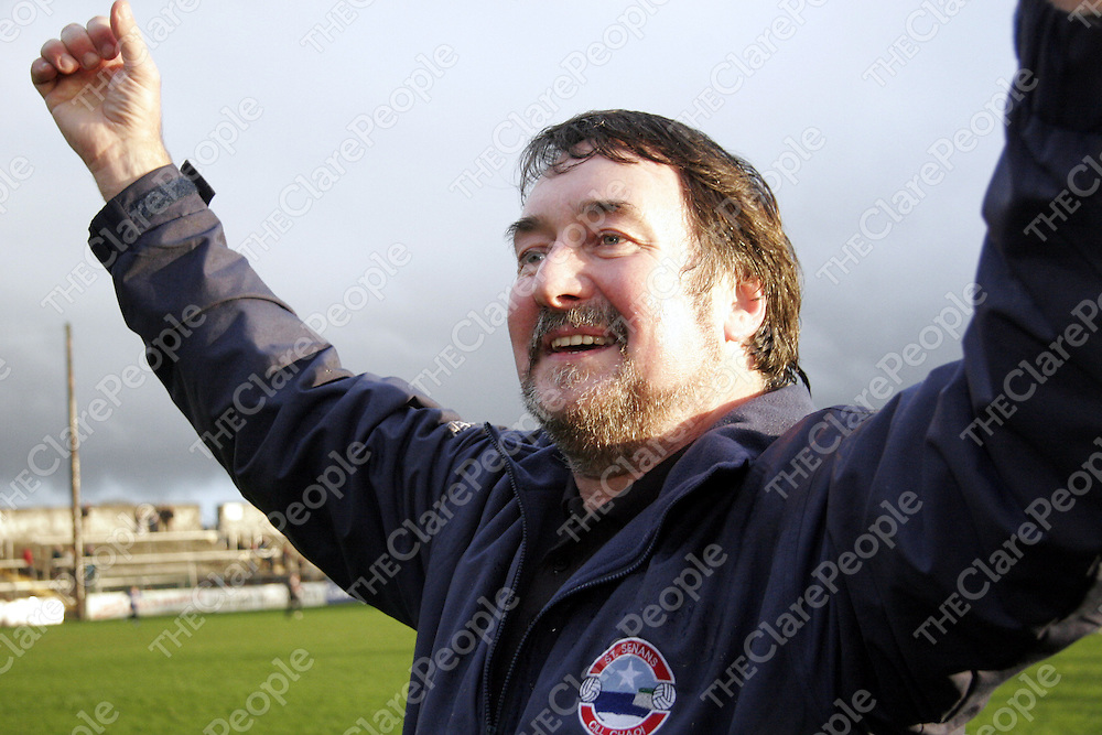 Tom Prenderville was a happy man on Sunday after Kilkee were crowned County Champions after they beat Kilmurry Ibrickane in Cusack Park.<br />