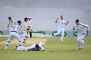 Stephen Eskinazi of Middlesex is dropped by Sean Ervine off of the bowling of Kyle Abbott during the Specsavers County Champ Div 1 match between Hampshire County Cricket Club and Middlesex County Cricket Club at the Ageas Bowl, Southampton, United Kingdom on 16 April 2017. Photo by David Vokes.