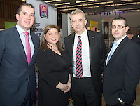 29/02/2014  Barry Cooley, Sharon Egan,  Padraic Moran  and Ronan Keating  from AIB Galway business expo which was hosted by NUI Galway in the Bailey Allen Hall, NUIG .<br />  <br /> Inspired by the rapidly growing global trends of health and wellness, NUA Naturals supplies and distributes high quality health food in Ireland and the UK while also sourcing raw ingredients internationally which are then packaged and distributed under the NUA brand name.<br />  <br /> Established in 2011, NUA Naturals currently employs 11 people at their base in Westside, Galway. The company entered the UK market last year and has plans to increase their reach internationally over the next 18 months.<br />  <br /> NUA Naturals&rsquo; Niall Fennell was presented with his prize by Padraig O&rsquo; Callaghan, Chairman of St. Columba&rsquo;s Credit Union Galway, and John Lenihan, Chairman of SCCUL Enterprises who jointly sponsored the winner&rsquo;s prize.<br />  <br /> Speaking at the event, Mr. Fennell said that he was honored and delighted to receive this award.<br />  <br /> &ldquo;Entering the SCCUL Awards has been an incredible experience for us. It has allowed us to take a step back and really look at our business. We will invest our award back into our business to help us take our business to the next level,&rdquo; said Mr. Fennell.<br />  <br /> NUA Naturals also receives a &euro;2500 advertising package from local media sponsor Galway Independent and a specially commissioned sculpture by Galway based sculptor, Liam Butler. Photo:Andrew DownesThe SCCUL Enterprise Social Enterprises Award was won by Act for Meningitis and Ex Ordo Ltd was the recipient of the SCCUL Enterprise ICT Award. The winner was announced at the annual SCCUL Enterprise Awards prize giving ceremony and business expo which was hosted by NUI Galway in the Bailey Allen Hall, NUIG .<br />  <br /> Inspired by the rapidly growing global trends of health and wellness, NUA Naturals supplies and distributes high quality 