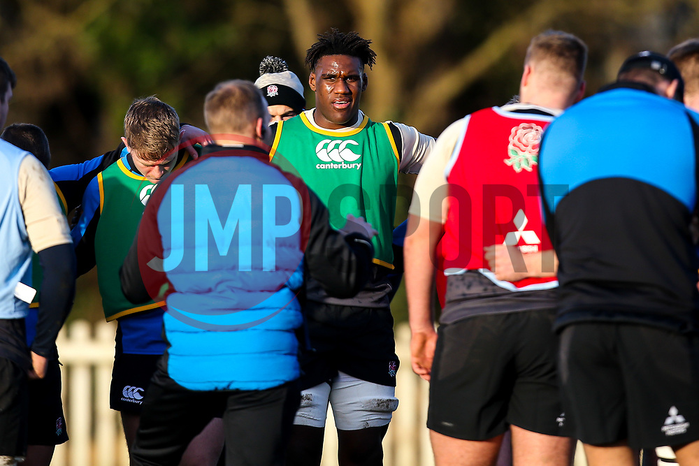 Joel Kpoku of England Under 20s - Mandatory by-line: Robbie Stephenson/JMP - 08/01/2019 - RUGBY - Bisham Abbey National Sports Centre - Bisham Village, England - England Under 20s v  - England Under 20s Training