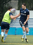 Fly-Half RƒMI TALéS of French rugby union team, Racing 92 from Paris,during training in Hong Kong. They are preparing ahead of their upcoming match against New Zealand's Super League team, The Highlanders