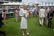 COURTNEY LOVE; IN THE PADDOCK, Glorious Goodwood. Ladies Day. 28 July 2011. <br /> <br />  , -DO NOT ARCHIVE-© Copyright Photograph by Dafydd Jones. 248 Clapham Rd. London SW9 0PZ. Tel 0207 820 0771. www.dafjones.com.