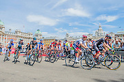 The start in Horse Guards Parade - Prudential RideLondon a festival of cycling, with more than 95,000 cyclists, including some of the world's top professionals, participating in five separate events over the weekend of 1-2 August.