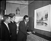 Exhibition of Watercolours  by Liam O'Kelly at Paradiso Restaurant, 32 Westmoreland St., Dublin.22/04/1954