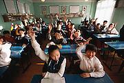 Batbileg Batsuuri's Russian language class, Ulaanbaatar, Mongolia. to Material World Project family in Mongolia, 2001.