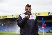 Leicester City midfielder Riyad Mahrez (26) warm up during the Barclays Premier League match between Crystal Palace and Leicester City at Selhurst Park, London, England on 19 March 2016. Photo by Phil Duncan.