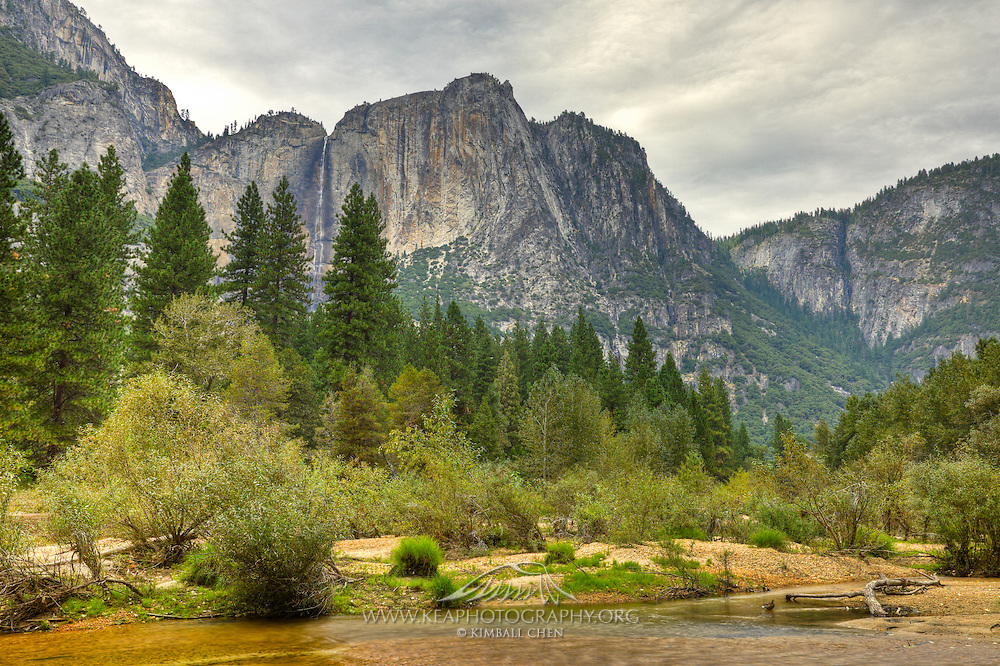 Merced River and Upper Yosemite Falls