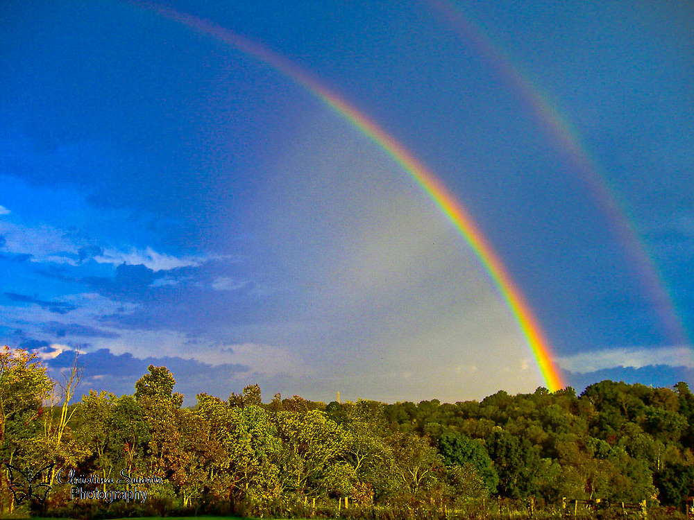 Rainbow image for sale. Double Rainbow taken in Ohio. Click the Buy button to purchase this image in the form of prints, products, or downloads.