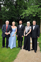 Left to right, MIKHAIL GORBACHEV, JK ROWLING, EVGENY LEBEDEV, Anastasia Virganskay and  at the Raisa Gorbachev Foundation fourth annual fundraising gala dinner held at Stud House, Hampton Court, Surrey on 6th June 2009.