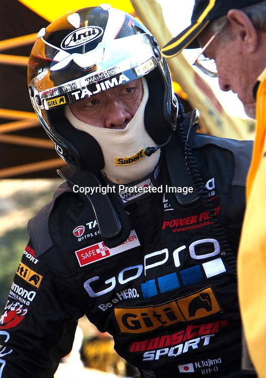 Nobuhiro Tajima at the Race to the Sky in the Cardrona Valley, Wanaka on the 18th April 2015/Photo:James Allan/www.photosport.co.nz
