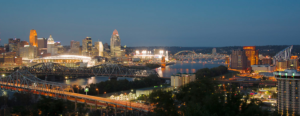 Cincinnati Ohio Panoramic Skyline