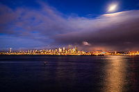 Seattle Skyline between Day & Night