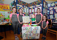 20 Aug 2016: U11 Project winners - team Clare l-r; Keelin Moroney, 9, Myra Donnellan, 10, Aoife Frost, 10, and Eadaoin Moroney, 9.   2016 Community Games National Festival 2016.  Athlone Institute of Technology, Athlone, Co. Westmeath. Picture: Caroline Quinn