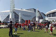 Fans Around Mercedes-Benz Stadium