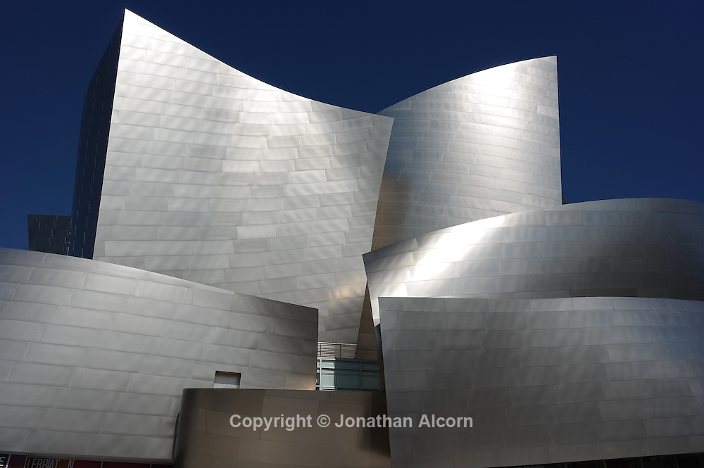 Walt Disney Concert Hall, home of the Los Angeles Philharmonic and designed by Frank Gehry opened on October 24, 2003