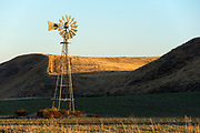 Old windmill on the Palouse Prairie in Eastern Washington.
