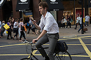 Cyclist, London, 21 July 2016