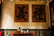Inside a buddhist temple in Chinatown (Cholon) - District 5, Ho chi minh
