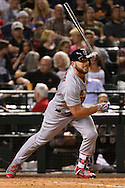 PHOENIX, ARIZONA - APRIL 27:  Matt Holliday #7 of the St. Louis Cardinals hits a ground rule double to deep right driving in a run during the sixth inning against the Arizona Diamondbacks Chase Field on April 27, 2016 in Phoenix, Arizona.  (Photo by Jennifer Stewart/Getty Images)