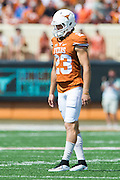 AUSTIN, TX - SEPTEMBER 26:  Nick Rose #23 of the Texas Longhorns lines up for a field goal attempt against the Oklahoma State Cowboys on September 26, 2015 at Darrell K Royal-Texas Memorial Stadium in Austin, Texas.  (Photo by Cooper Neill/Getty Images) *** Local Caption *** Nick Rose