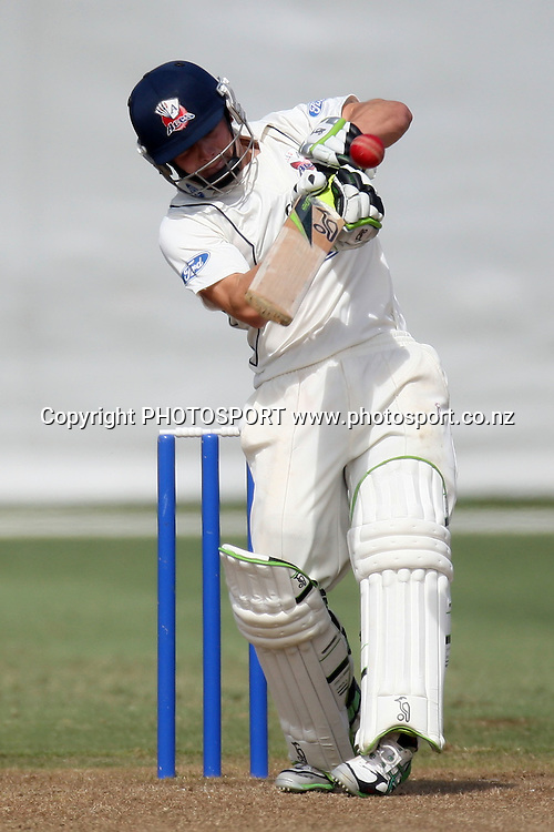 Bradley Cachopa, Plunket Shield, 4 day domestic cricket. Auckland Aces v Wellington Firebirds, Colin Maiden Park, Auckland. 23 March 2011. Photo: William Booth/photosport.co.nz