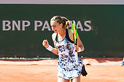Petra Martic (cro) during the Roland Garros French Tennis Open 2018, day 1, on May 27, 2018, at the Roland Garros Stadium in Paris, France - Photo Pierre Charlier / ProSportsImages / DPPI