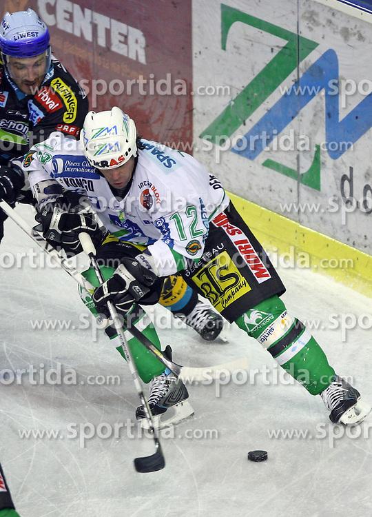Todd Elik of ZM Olimpija at ice hockey matchZM Olimpija vs Liwest Linz in second round of semi-final of Ebel League (Erste Bank Eishockey Liga),  on February 28, 2008 in Arena Tivoli, Ljubljana, Slovenia. Win of ZM Olimpija 3:2. (Photo by Vid Ponikvar / Sportal Images)