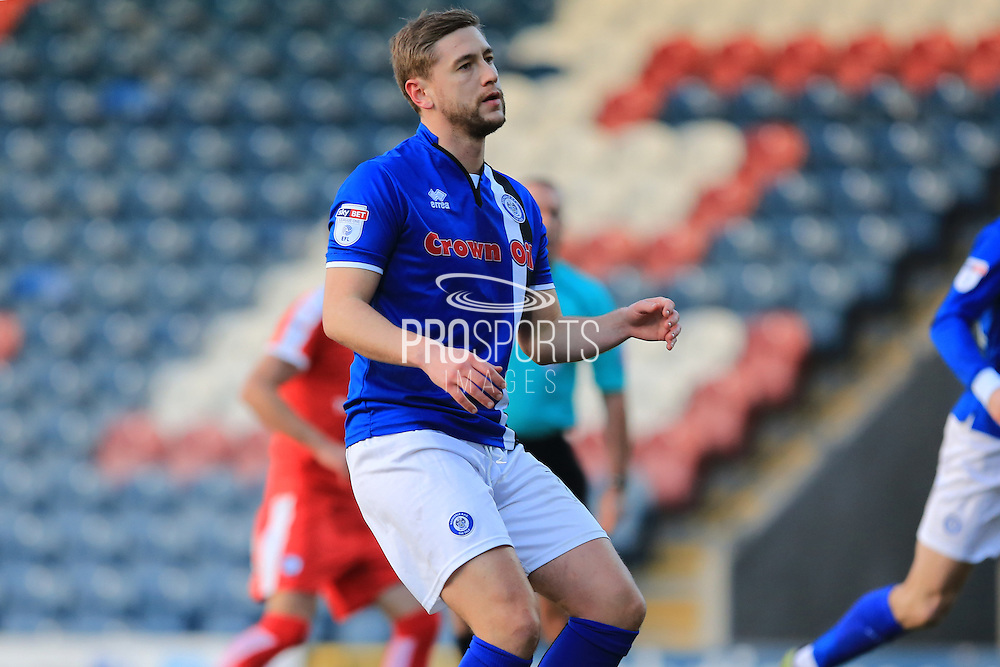 PENALTY MISS Steven Davies reacts to missing during the EFL Sky Bet League 1 match between Rochdale and Chesterfield at Spotland, Rochdale, England on 26 December 2016. Photo by Daniel Youngs.
