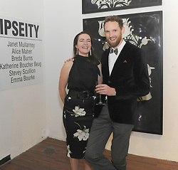 Emma Bourke and Conor Wilson Westival Director, pictured at the opening of the two group shows Identity and Ipseity at the Westival Gallery. <br /> Pic Conor McKeown