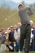 Tiger Woods competes in Accenture Match Play in Marana, Arizona, USA, in 2008.