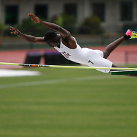 Texas A&M's Lindon Victor clears the bar while competing in the pole vault during the men's decathlon on the second day of the NCAA outdoors college track and field championships in Eugene, Ore., Thursday, June 8, 2017. (AP Photo/Timothy J. Gonzalez)
