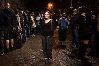 11 May 2012, Palermo. Nina Melan, a 35 years old restorer and graphic designer, poses at the Vucciria, a historical market and nightlife epicenter in Palermo, Italy. Nina, originally from Milan, arrived in Palermo in 2009. ### 11 maggio 2012, Palermo. Nina Melan, una restauratrice e grafica di 35 anni, posa alla Vucciria, lo storico mercato e uno degli epicentri della vita notturna a Palermo. Nina, originaria di Milano, è arrivato a Palermo nel 2009.