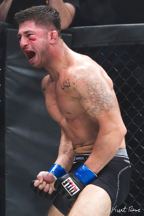 during the World Extreme Fighting Event at UCF Arena in Orlando, FL on April 23, 2011.  (Kurt Rivers/KnightNews.com)..