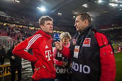 December 16, 2017 - Stuttgart, Germany - Bayerns Thomas Mueller gives an interview after the final whistle the German first division Bundesliga football match between VfB Stuttgart and Bayern Munich on December 16, 2017 in Stuttgart, Germany. (Credit Image: © Bartek Langer/NurPhoto via ZUMA Press)