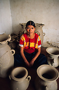 Amatenango del Valle, the maya women are renowned potters,  with pre-Hispanic method of burning.