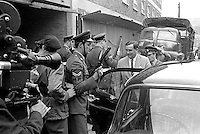 Denis Healey, UK Minister for Defence, in Belfast, N Ireland, during a visit to peace-keeping troops serving in the Province, 18th September 1969, 196909180253a. <br /> <br /> Copyright Image from Victor Patterson, 54 Dorchester Park, Belfast, UK, BT9 6RJ<br /> <br /> t1: +44 28 9066 1296<br /> t2: +44 28 9002 2446<br /> m: +44 7802 353836<br /> <br /> e1: victorpatterson@me.com<br /> e2: victorpatterson@gmail.com<br /> <br /> IMPORTANT: My Terms and Conditions of Business are at www.victorpatterson.com