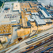 Aerial view of GM Plant, Boxwood.