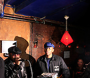 "Black Thought and Mos Def at The Roots Album realease party for ""Roots Down"" at Sutra on April 29, 2008"".. The Legendary Roots Crew, the influential, Grammy Award-winning American band from Philadelphia, Pennsylvania, famed for a heavily jazzy sound and live instrumentation, have made 10 Albums to date."