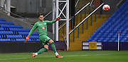 Alex McCarthy makes the clerance during the Final Third Development League match between U21 Crystal Palace and U21 Bristol City at Selhurst Park, London, England on 3 November 2015. Photo by Michael Hulf.