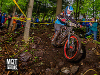 Downhill bicycle race at the 2014 Marquette Trails Festival at Marquette Mountain Ski Area in Marquette, Michigan.  The event showcases the trails of the Noquemanon Trail Network.