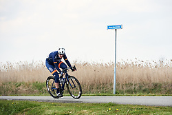 Mieke Kröger (GER) tries to join the break at Healthy Ageing Tour 2019 - Stage 5, a 124.3 km road race in Midwolda, Netherlands on April 14, 2019. Photo by Sean Robinson/velofocus.com