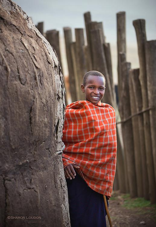 Young Maasai herder, Tanzania