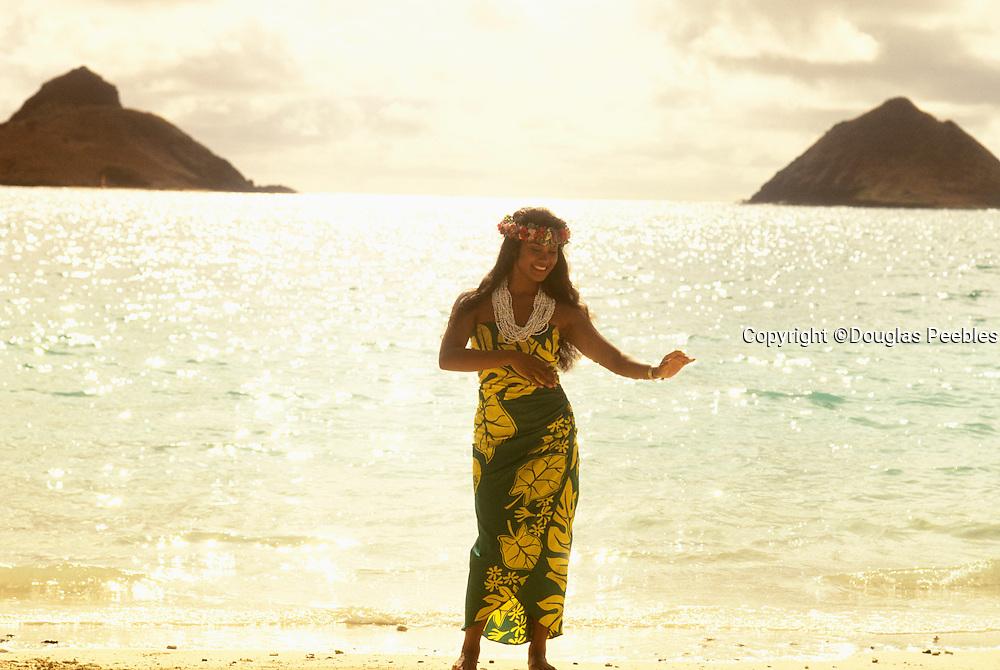Polynesian woman, Lanika, Oahu, Hawaii
