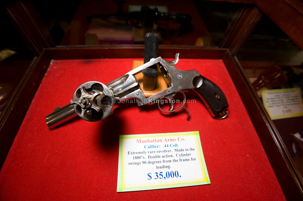A rare pistol manufactured by the Manhattan Arms Company in the 1880's for sale at a gun show in Oregon.