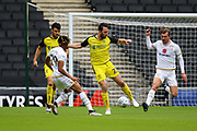 Burton Albion midfielder John-Joe O'Toole wins the ball during the EFL Sky Bet League 1 match between Milton Keynes Dons and Burton Albion at stadium:mk, Milton Keynes, England on 5 October 2019.