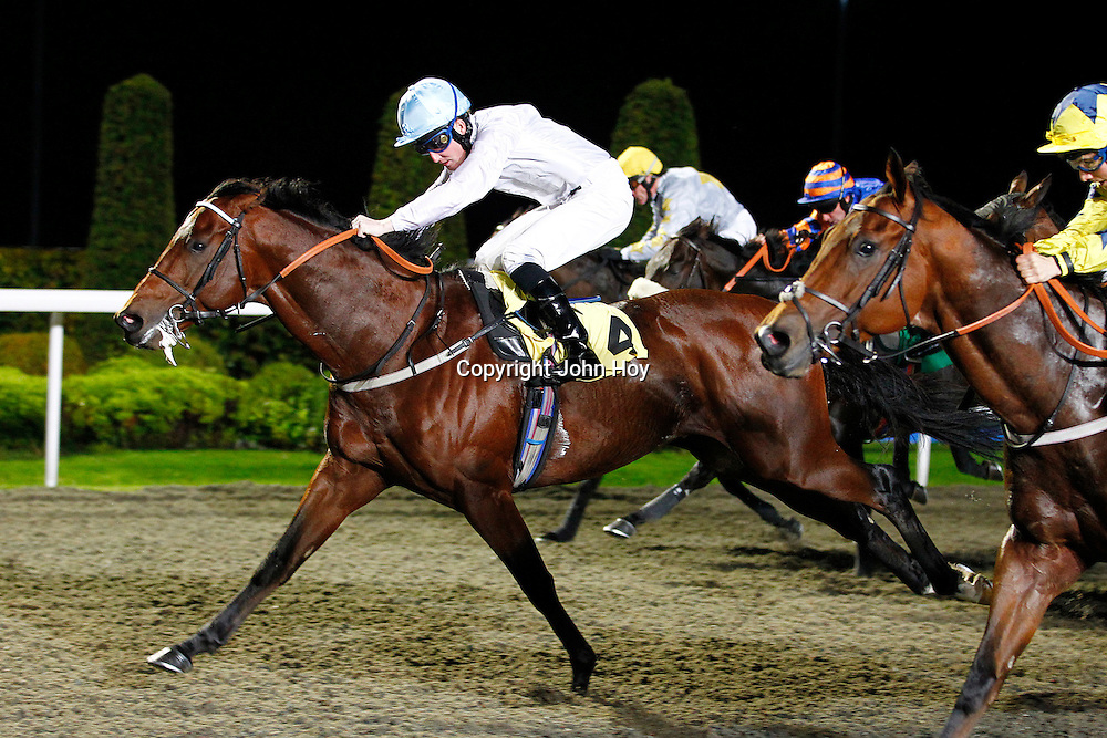 Belgian Bill and Pat Cosgrave winning the 7.50 race