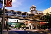 Image of downtown Spokane with skybridges, Spokane, Washington, Pacific Northwest