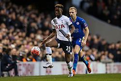 Joshua Onomah of Tottenham Hotspur in control - Mandatory byline: Jason Brown/JMP - 07966386802 - 10/01/2016 - FOOTBALL - White Hart Lane - London, England - Tottenham v Leicester City - The Emirates FA Cup