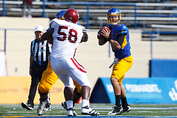 September 24, 2011; San Jose, CA, USA; San Jose State Spartans quarterback Matt Faulkner (7) stands in the pocket against the New Mexico State Aggies during the third quarter at Spartan Stadium. San Jose State defeated New Mexico State 34-24.
